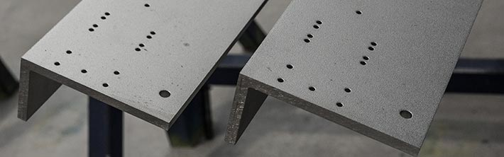 Stainless steel angle bars w holes