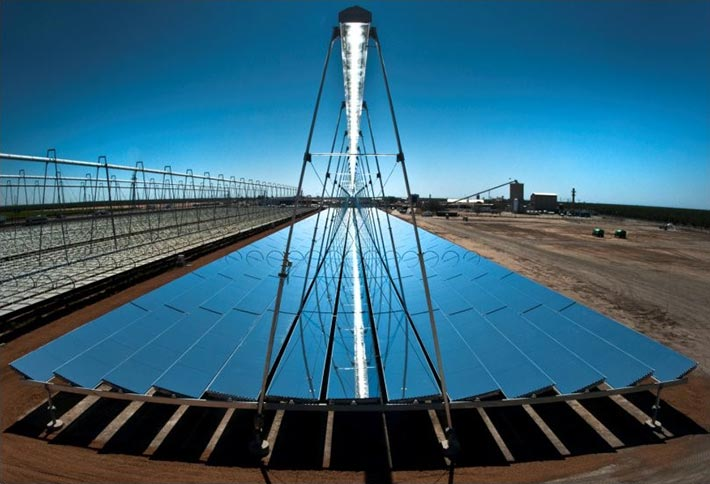 Fresnel-Kollektoranlagen-Solarkraftwerk