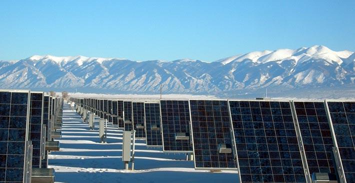 Solarkraftwerk-Solarenergie