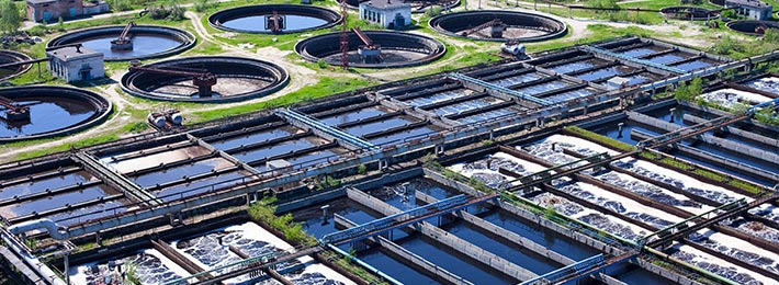 waste water treatment plants in action