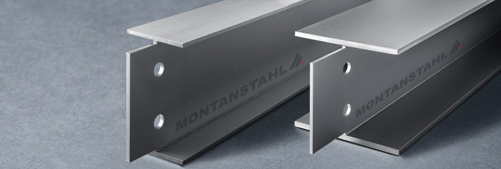 stainless steel beams with back-cut flanges