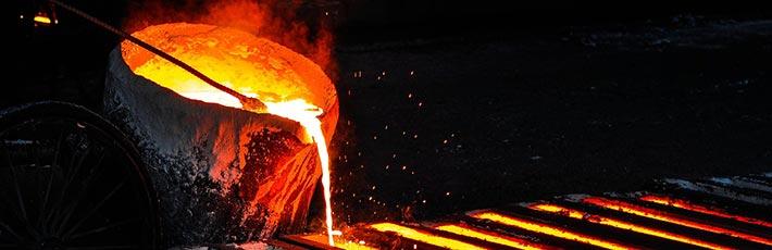 Stahlschmelzen für Recycling