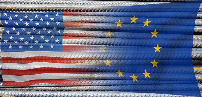 EU steel imports into USA