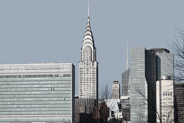 Chrysler Building mit Edelstahl Rostfrei