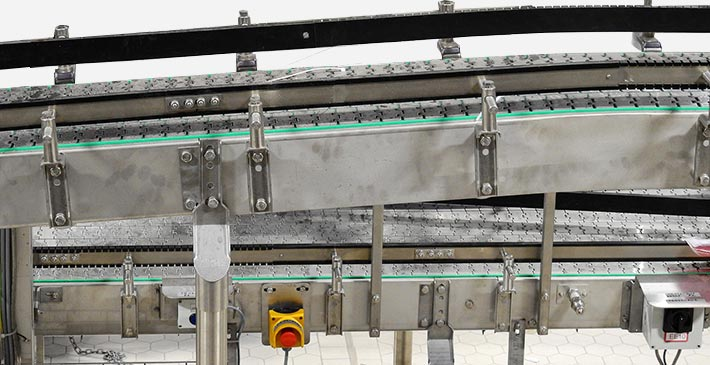 conveyor with stainless steel