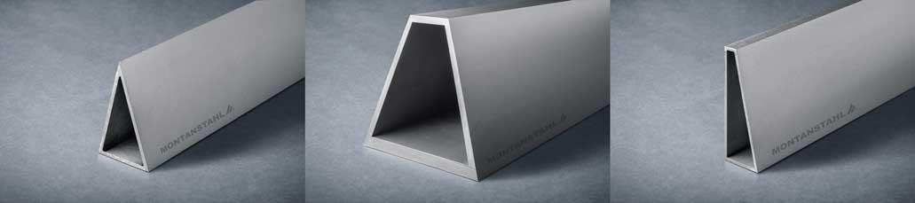 Trapez-Dreiecksprofile-Fassade