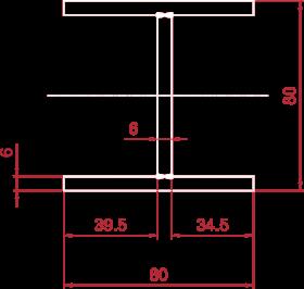 Beam-80x80x6x6